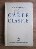 Anticariat: N. I. Herescu - Caete clasice (1941)