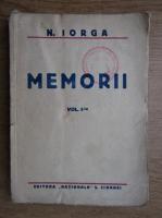 Anticariat: N. Iorga - Memorii (volumul 1, 1922)