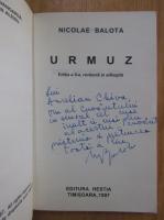 Anticariat: Nicolae Balota - Urmuz (cu autograful autorului)
