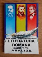 Anticariat: Nicolae Constantinescu - Literatura romana clasele V-VIII. Analize