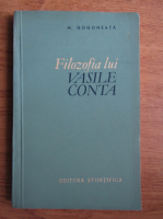 Nicolae Gogoneata - Filozofia lui Vasile Conta