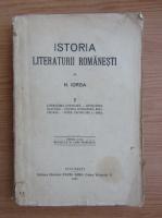 Nicolae Iorga - Istoria literaturii romanesti (volumul 1, 1925)