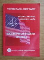 Anticariat: Nicoleta Presura - English for law students