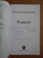 Nicoleta Salcudeanu - Pasiente (cu autograful autoarei)
