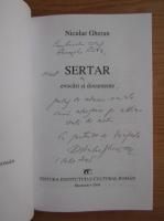 Niculae Gheran - Sertar (cu dedicatia si autograful autorului)