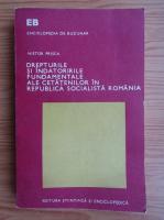 Anticariat: Nistor Prisca - Drepturile si indatoririle fundamentale ale cetatenilor in Republica Socialista Romania