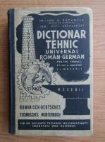 Anticariat: O. Bocancea - Dictionar tehnic universal roman-german pentru tehnica, stiinta, industrie si meserii (1940)