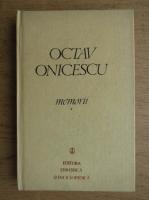 Octav Onicescu - Memorii (volumul 1)