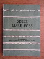 Anticariat: Odele Marii Egee, poeti greci contemporani