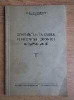 Anticariat: Olga Simionescu - Contributiuni la studiul peritonitei cronice incapsulante (1940)