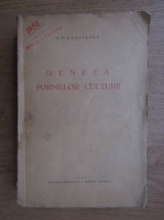 Anticariat: P. P. Negulescu - Geneza formelor culturii (1934)