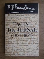 Anticariat: P. P. Panaitescu - Pagini de jurnala 1921-1927