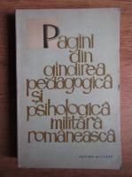 Pagini din gandirea pedagogica si psihologica militara romaneasca