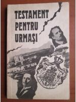 Pantelimon Halipa, Anatolie Moraru - Testament pentru urmasi