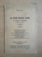 Anticariat: Paraf Javal - Ce stim despre lume (1929)