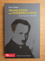 Anticariat: Parvis Emad - Translation and interpretation. Learning from Beitrage