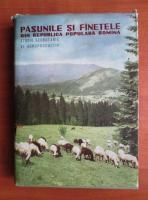 Pasunile si fanetele din Romania, Studiu geobotanic si agroproductiv