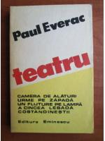 Anticariat: Paul Everac - Teatru