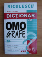 Petcu Abdulea - Dictionar de omografe