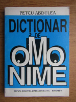 Petcu Abdulea - Dictionar de omonime