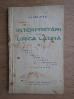 Petru Stati - Interpretari din lirica latina (1935)