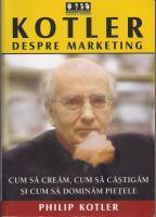 Philip Kotler - Despre marketing