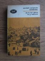 Pionierii romanului romanesc. De la Ion Ghica la G. Baronzi