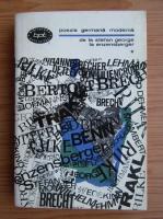 Anticariat: Poezia germana moderna, volumul 1. De la Stefan George la Enzensberger