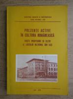 Prezente active in cultura romaneasca