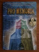 Anticariat: Pro Memoria. Revista de istorie ecleiastica Nr. 7-2008