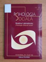 Psihologia sociala, nr. 20, 2007