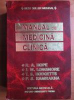 Anticariat: R. A. Hope - Manual de medicina clinica (editia a-3-a)
