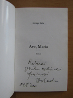 Anticariat: Radu George - Ave, Maria (cu autograful autorului)