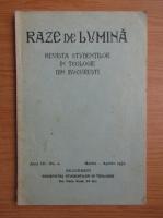 Anticariat: Raze de lumina. Revista studentilor in teologie din Bucuresti, anul III, nr. 2, martie-aprilie, 1931