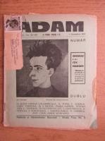 Anticariat: Revista Adam, fondator I. Ludo, anul IX, nr. 107-108, 1 octombrie 1937