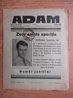 Anticariat: Revista Adam, fondator I. Ludo, anul XI, nr. 132, 1 ianuarie 1939