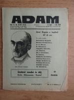 Anticariat: Revista Adam, fondator I. Ludo, anul XI, nr. 141-142, 15 iunie, 1 iulie 1939