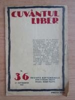 Anticariat: Revista Cuvantul Liber, nr. 36, septembrie 1924