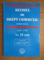 Anticariat: Revista de drept comercial, anul XVIII, nr. 10, 2008