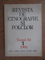 Revista de etnografie si folclor, tomul 34, nr. 1, 1989