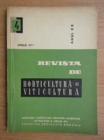 Revista de horticultura si viticultura, anul XX, nr. 4, aprilie 1971