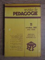 Revista de pedagogie, nr. 11, noiembrie 1982