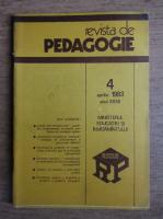 Revista de pedagogie, nr. 4, aprilie 1983