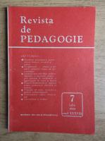 Revista de pedagogie, nr. 7, iulie 1989