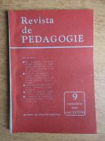 Revista de pedagogie, nr. 9, septembrie 1989