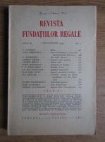Revista Fundatiei Regale, Anul II, nr. 9, 1935