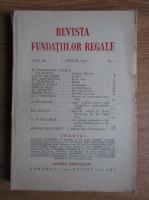 Revista Fundatiei Regale, Anul III, nr. 4, 1936