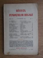 Revista Fundatiilor Regale, Anul IV, nr. 10, 1939