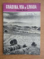 Anticariat: Revista Gradina, via si livada, anul IX, nr. 10, octombrie 1960