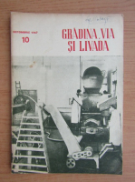Anticariat: Revista Gradina, via si livada, anul V, nr. 10, octombrie 1957
